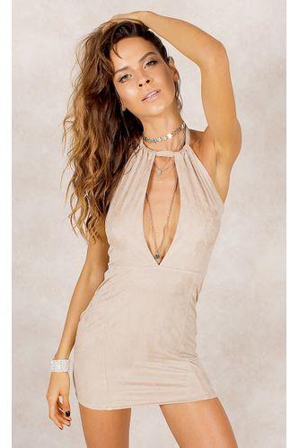 44.vestido.suede.fashioncloset