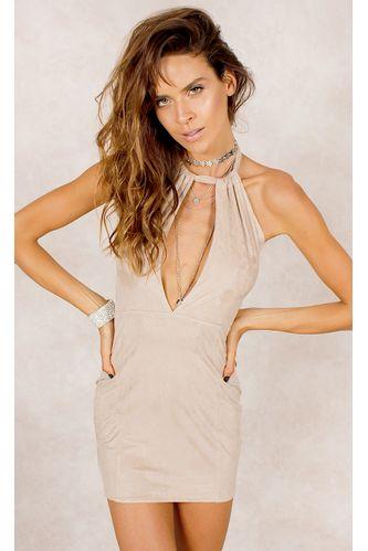 43.vestido.suede.fashioncloset