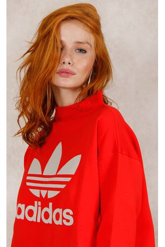 Blusa-Adidas-Sweatshirt-Vermelho