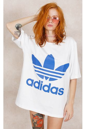 Camiseta-Adidas-Boxy-Adicolor-Branco