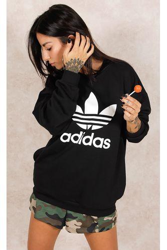 Blusa-Adidas-Trefoil-Preto