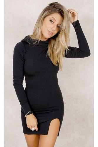 Vestido-Fenda-w--Capuz-Preto