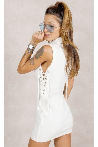 Vestido-Tricot-Gola-Branco