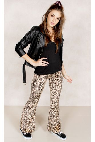 Calca-Flare-Animal-Print-Estampa