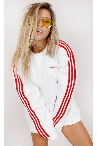 Blusa-Adidas-Moletom-Crew-Modern-Branco