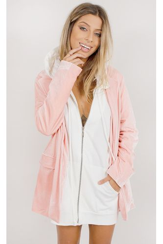 Blazer-Oversized-Velvet-Fashion-Rosa