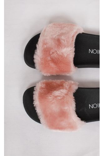 Chinelo-Slide-Fluffy-Rosa