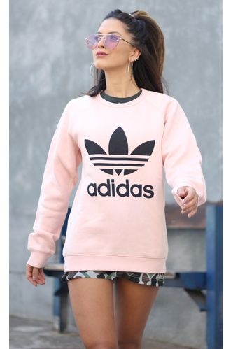 Blusa-Adidas-Moletom-Trefoil-Rosa