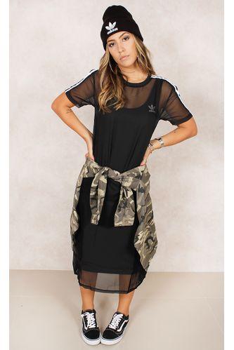 Vestido-Adidas-3-Stripes-Layer-Preto