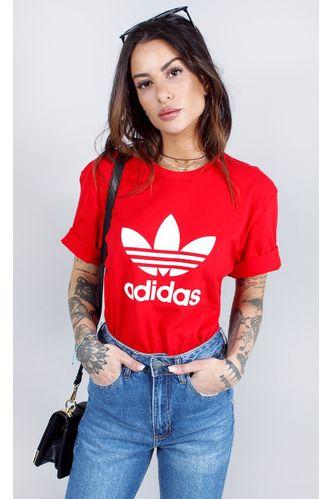camiseta-adidas-trefoil-vermelho