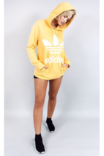 blusa-adidas-trefoil-hoodie-amarelo