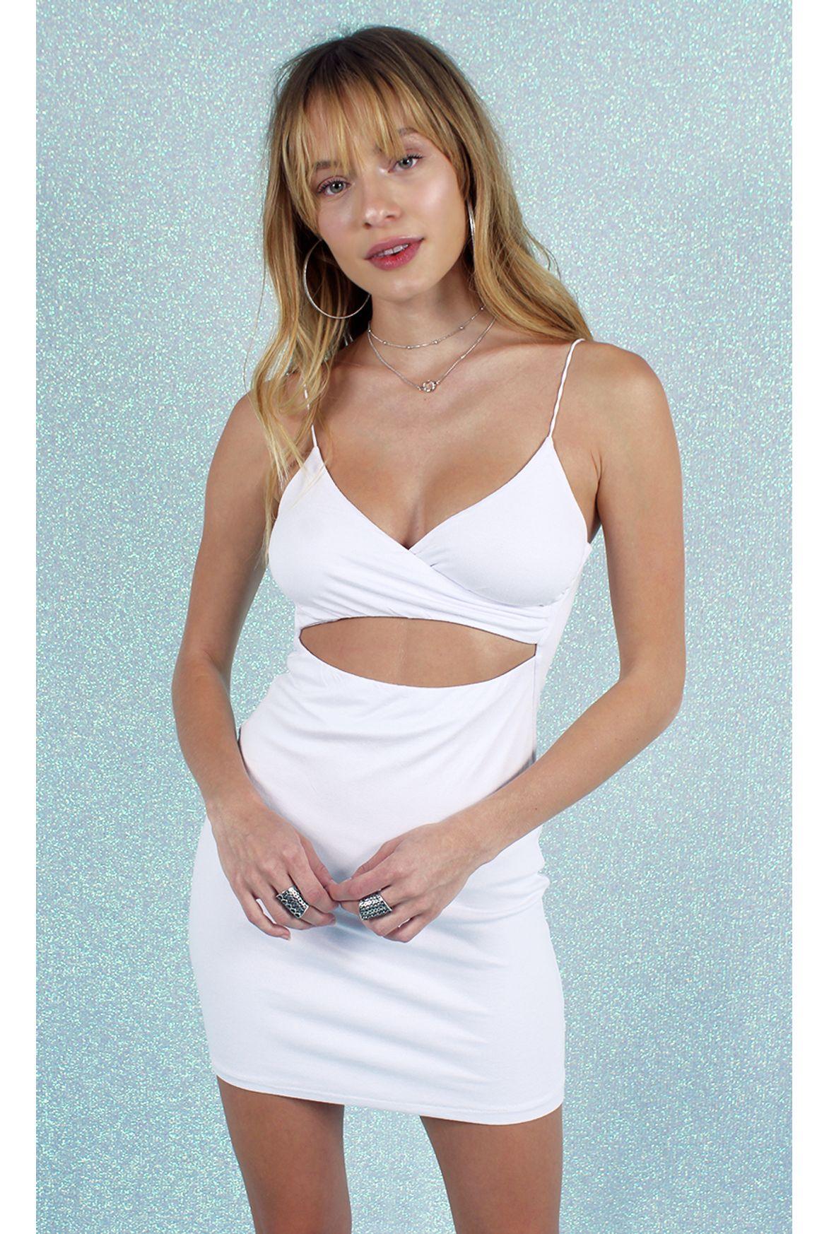 a4b4971dc FSHN vestido natasha w  vazado branco - Fashion Closet