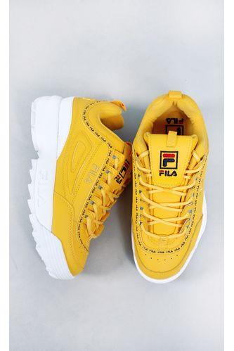 tenis-fila-disruptor-amarelo