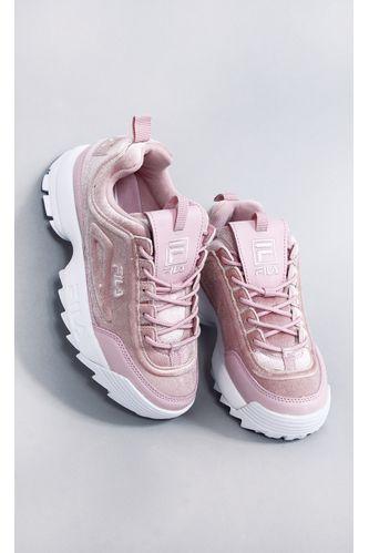 tenis-fila-disruptor-II-premium-velour-rosa