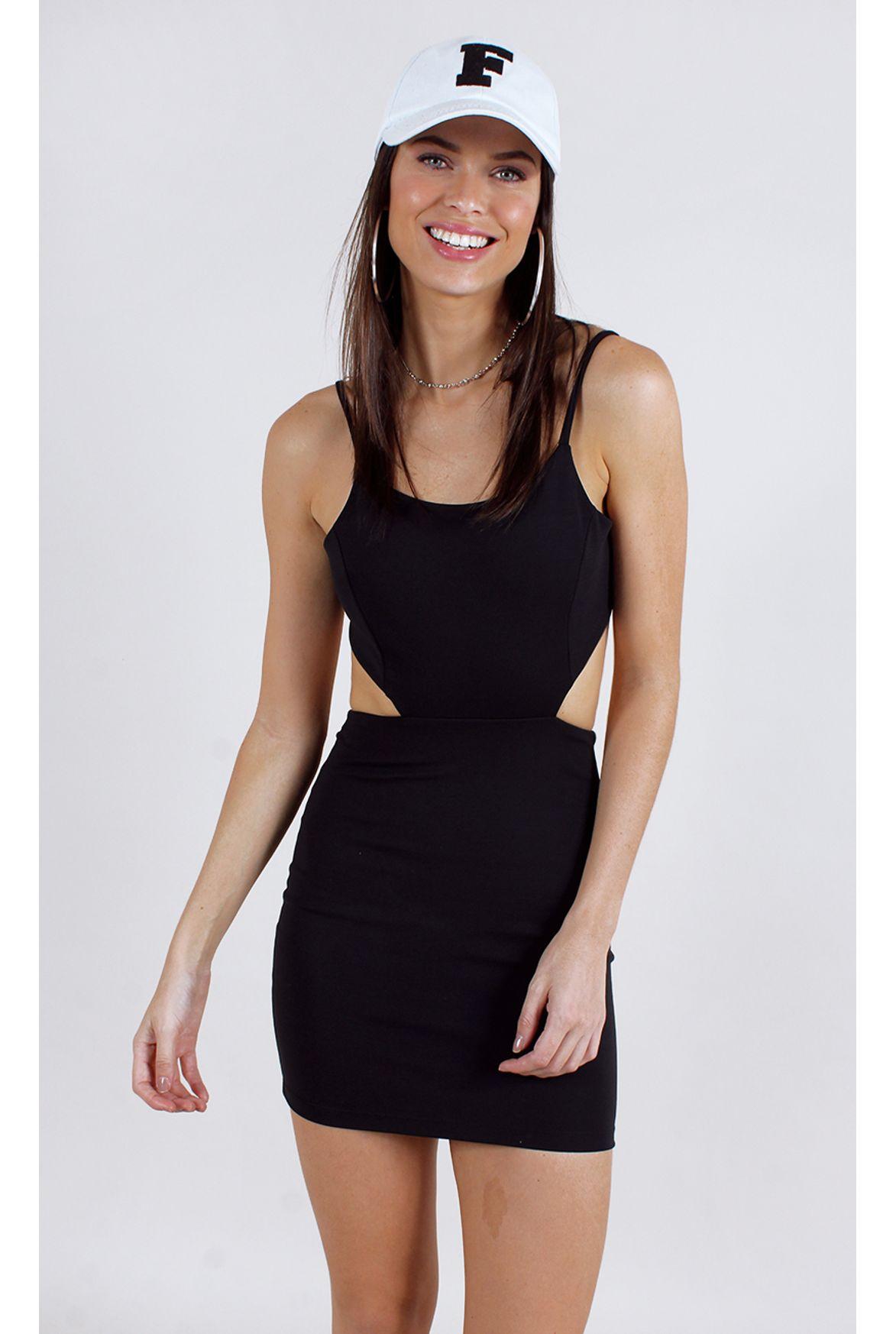 Fshn Vestido Letícia W Amarração Costas Preto Fashion Closet