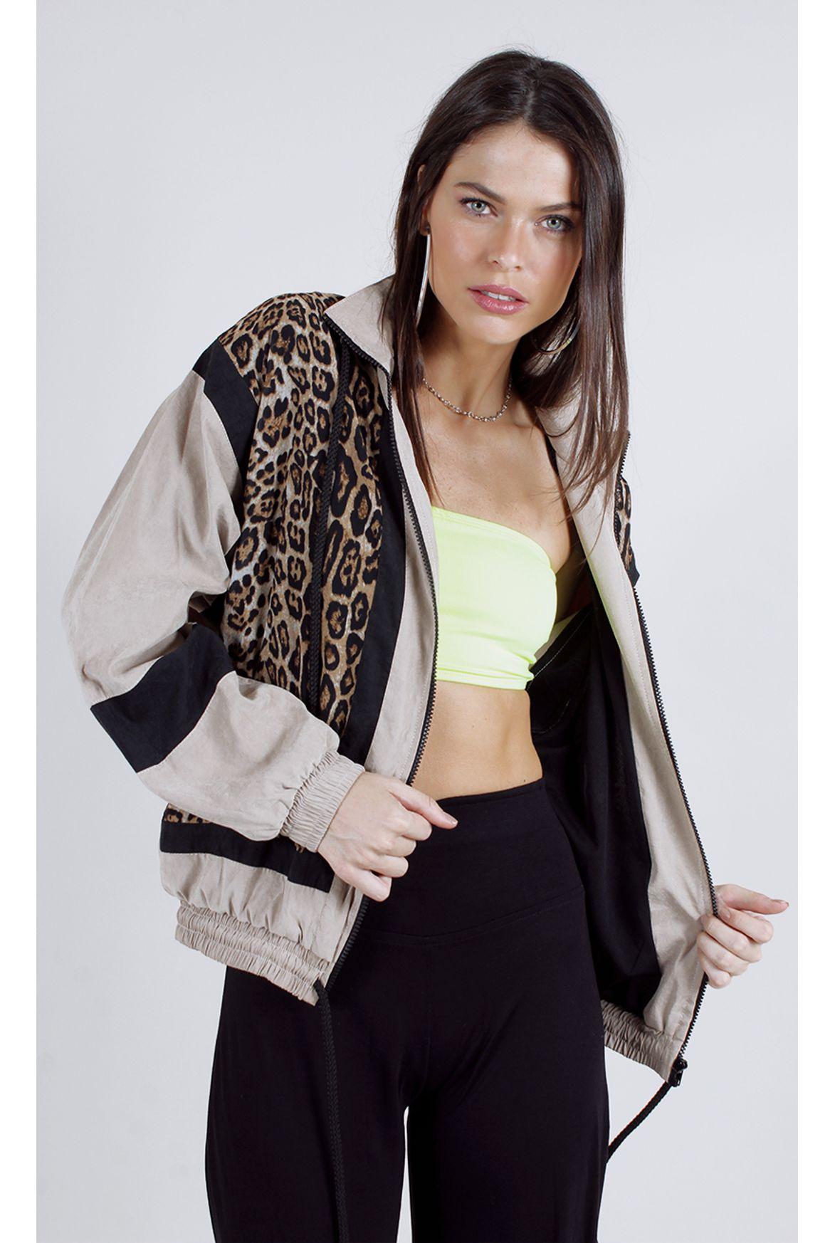 d00730f322 FSHN - jaqueta bomber onça w  recortes nude - Fashion Closet