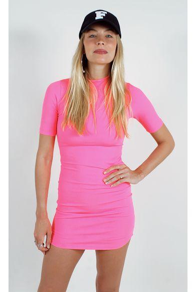 306e25512 vestido-selena-neon-canelado-rosa ...