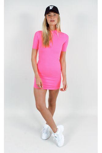 vestido-selena-neon-canelado-rosa