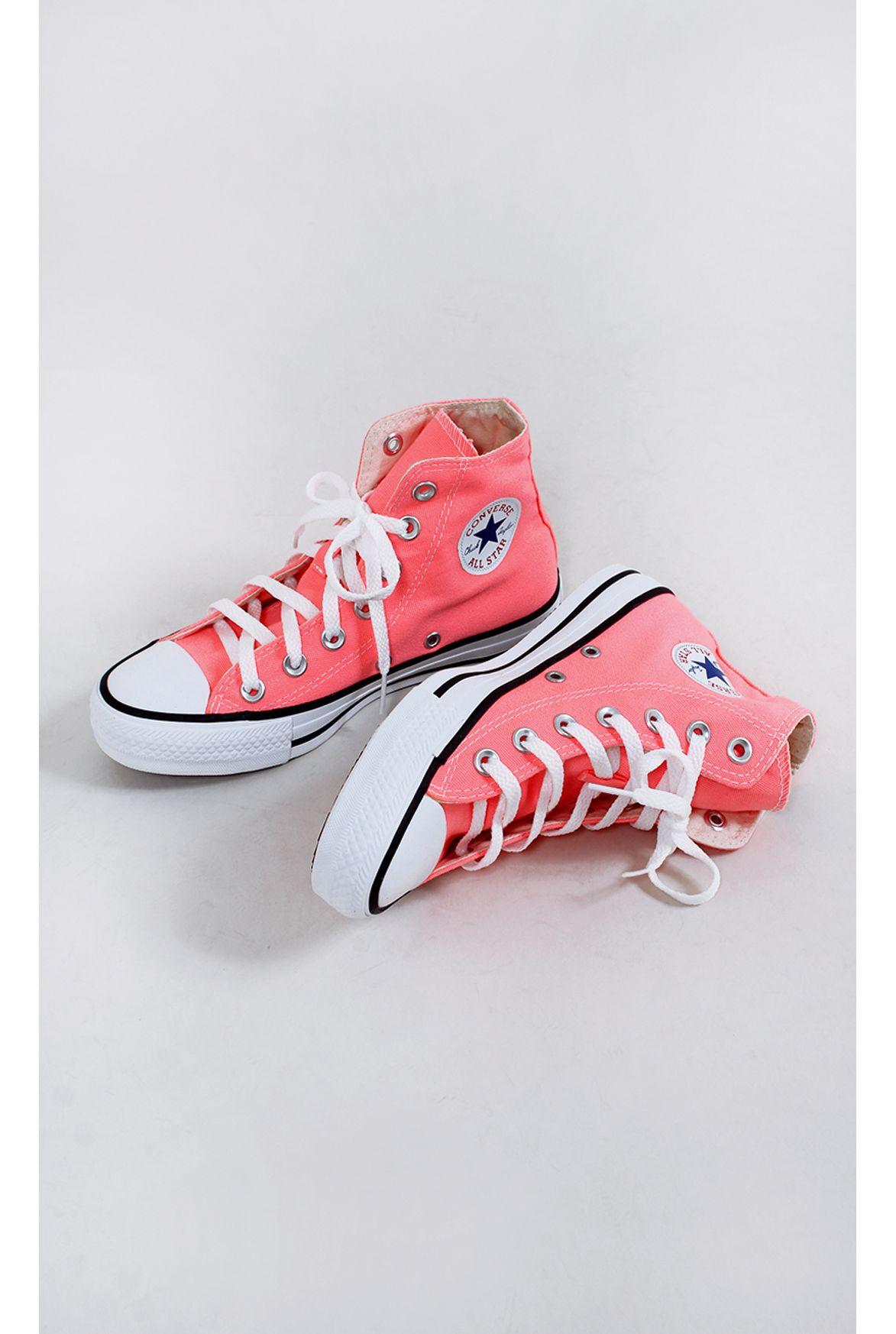 aa7d9863b tênis all star chuck taylor fluor rosa - Fashion Closet