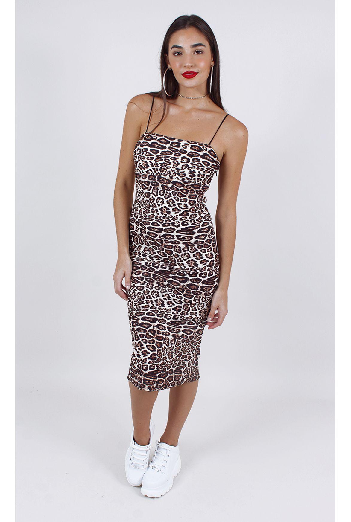 307cade304 vestido animal print midi estampa - Fashion Closet