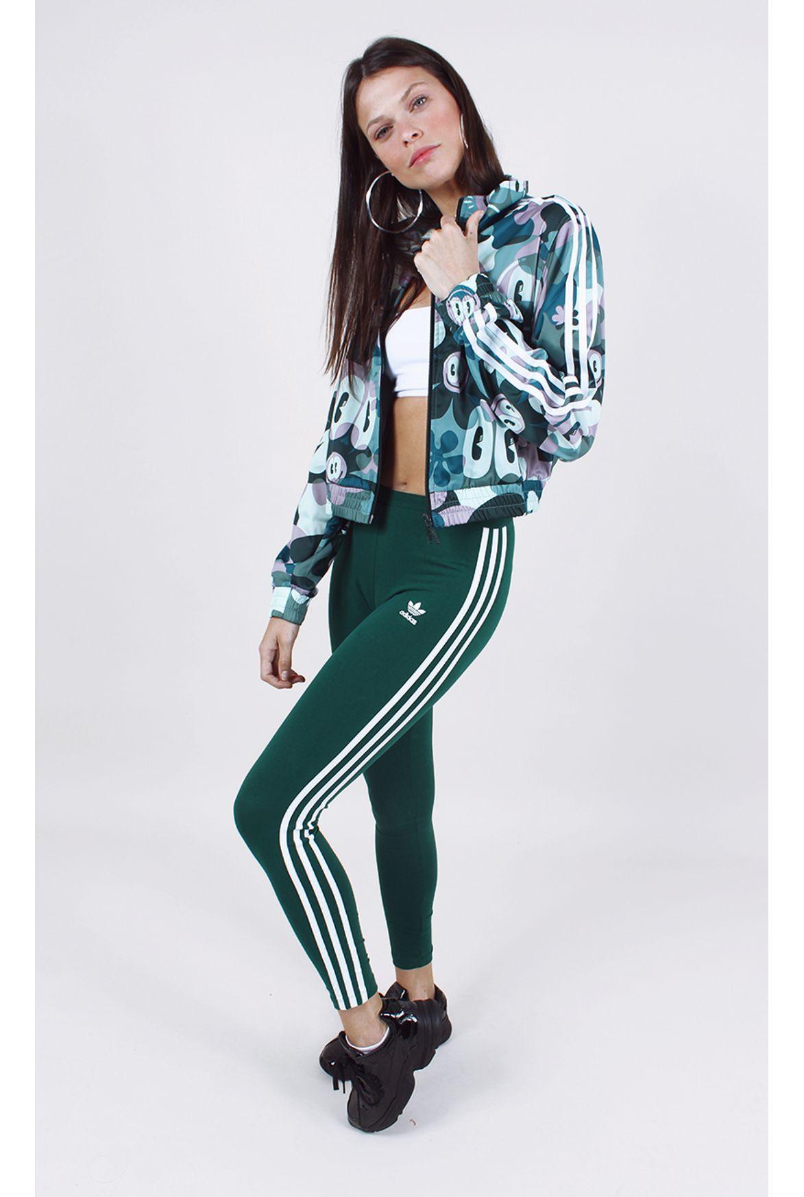 680425734de calça adidas 3 str tight verde - Fashion Closet