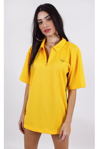 camiseta-adidas-polo-mesh-amarelo