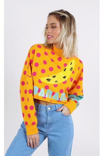 moletom-farm-cropped-poa-banana-amarelo