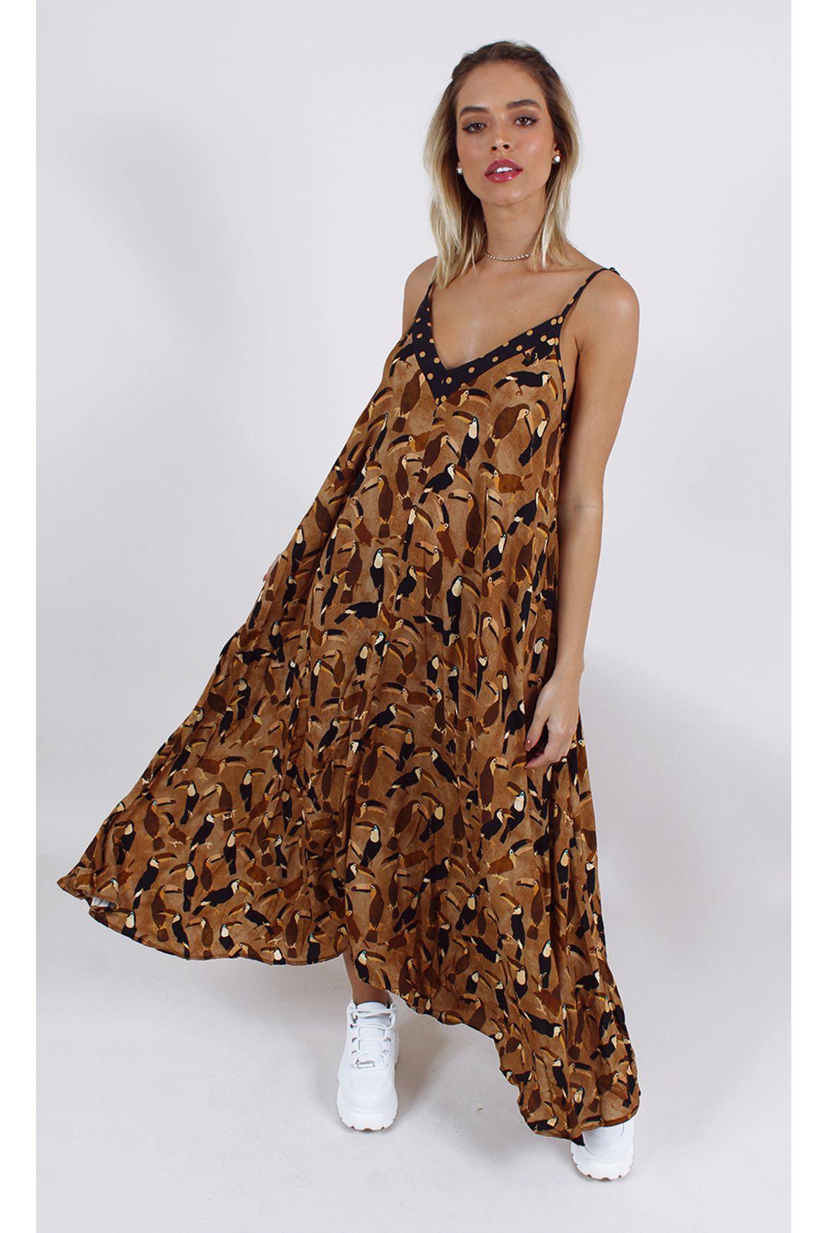 f7cfae1edee46 FSHN - macacão farm tucano marrom - Fashion Closet