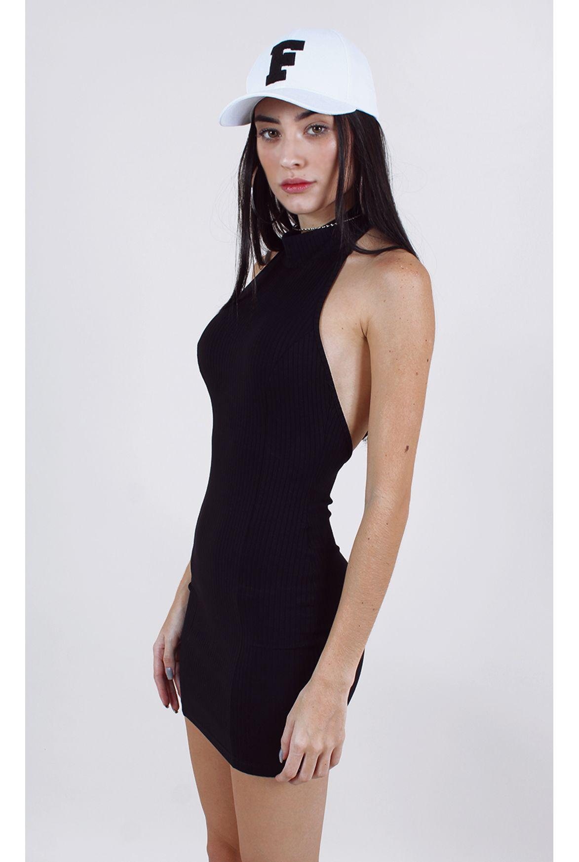 2c56fe7a91 FSHN - vestido soho w  gola preto - Fashion Closet