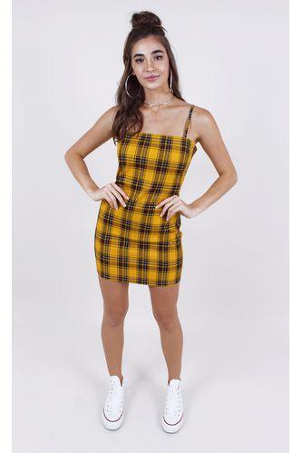 vestido-nicole-xadrez-curto-amarelo