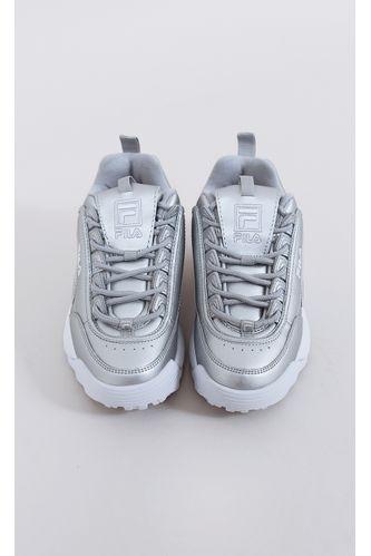 tenis-fila-disruptor-II-prm-metallic-prata