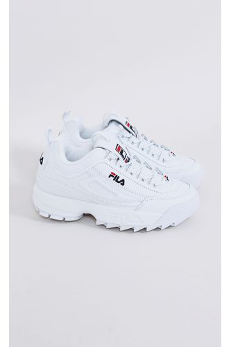 tenis-fila-disruptor-II-wht-blue-red-branco