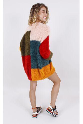 casaco-tricot-pelinho-color-block-colorido