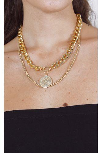 colar-chain-medalha-dourado