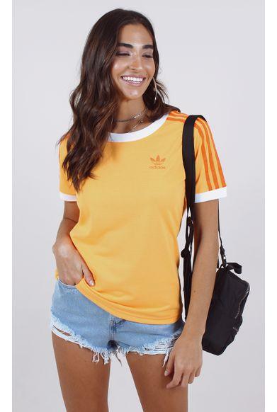 camiseta-adidas-3-stripes-tee-laranja