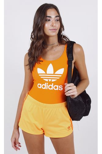 body-adidas-trefoil-swim-laranja