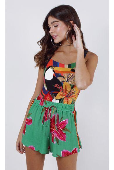 shorts-floral-lirio-verde