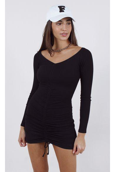 vestido-collins-canelado-mg-longa-preto