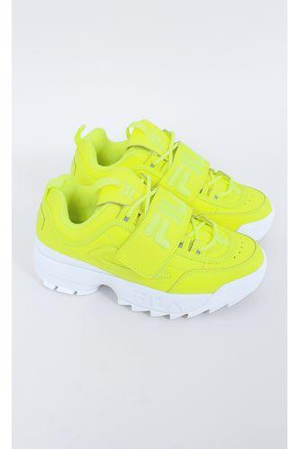 tenis-fila-disruptor-II-aplique-neon-verde