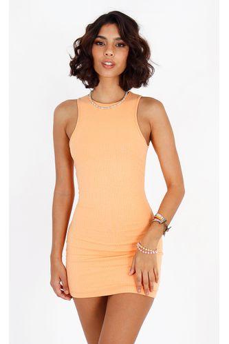 vestido-cintia-curto-canelado-laranja